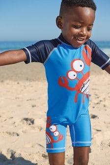 Sonnenschutz-Badeanzug mit Krebs-Motiv (3Monate bis 7Jahre)