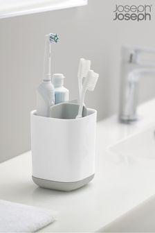 Organizador de cepillos de dientes de fácil almacenamiento blanco y gris de Joseph® Joseph