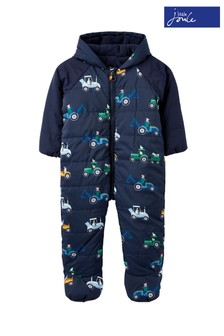 Joules Blue Snuggle Padded Pramsuit