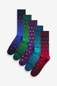 Pack de 5 pares de calcetines de lunares