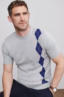 Premium Argyle Pattern T-Shirt