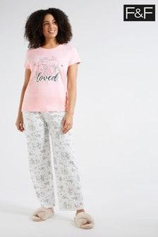 F&F Pink Bambi Pyjama Pack