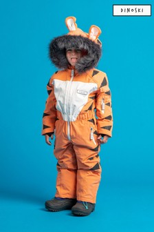 Dinoski Orange Pounce Tiger Ski Suit