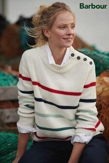 סוודרShorewood לבן עם פסים דגםIce שלBarbour®
