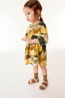 Трикотажное платье с пышными рукавами (3 мес.-7 лет)