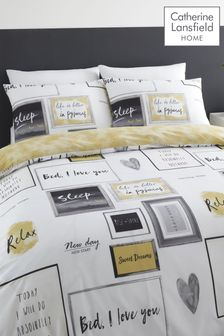 Catherine Lansfield Sleep Dreams Duvet Cover and Pillowcase Set