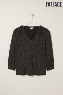 FatFace Black Gracie Mini Spot Top