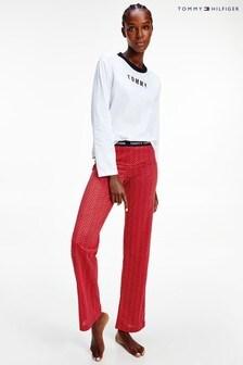 Tommy Hilfiger Red Holiday Logo Pyjama Set