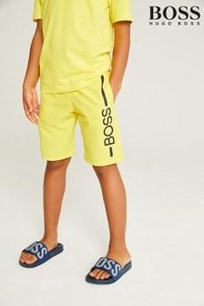 Short de bain BOSS jaune à logo