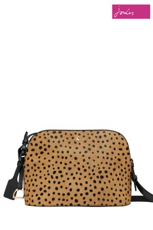 Joules Brown Langton Dome Leather Cross Body Bag