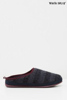 White Stuff Navy Knitted Slipper Mules