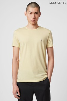 AllSaints Yellow Short Sleeved Tonic Crew T-Shirt