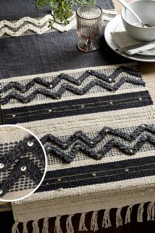 Metallic Woven Table Runner