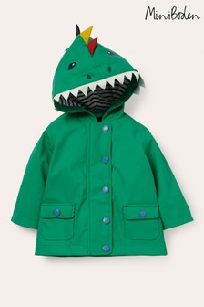 Boden - Impermeabile verde effetto dinosauro