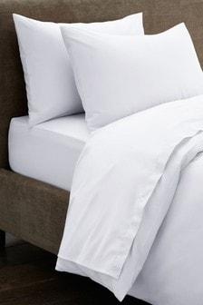 Белая простыня из 100% хлопка плотностью 300 нитей Collection Luxe