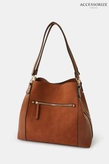 Accessorize Tan Brooklyn Casual Shoulder Bag