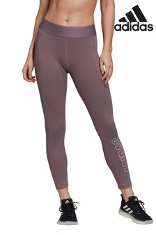 adidas Purple Alpha Skin Brand Leggings