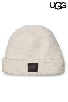 Кремовая шапка-бини из искусственной овчины UGG®