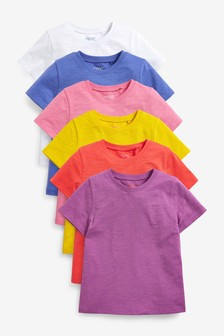 6 Pack Bright T-Shirts (3-16yrs)