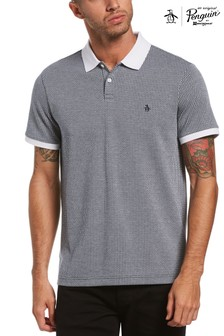 Original Penguin Blue All Over Jacquard Polo