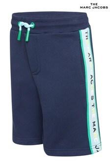The Marc Jacobs Badeshorts mit Streifen-Logo, marineblau