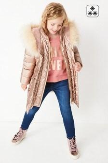 Непромокаемая дутая куртка с эффектом металлик (3-16 лет)