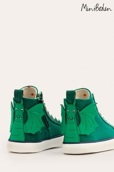 Mini Boden Green High Top Trainers