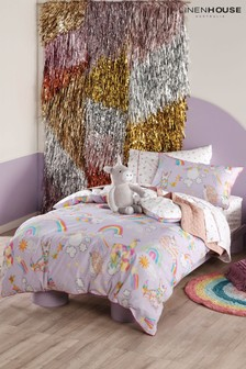 Linen House Kids Multi Unicorniverse Duvet Cover and Pillowcase Set