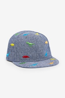 Chambray Dinosaur Cap (Younger)