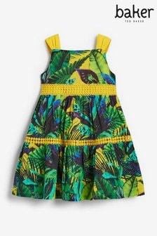 Baker by Ted Baker Gestuftes Kleid mit tropischem Print