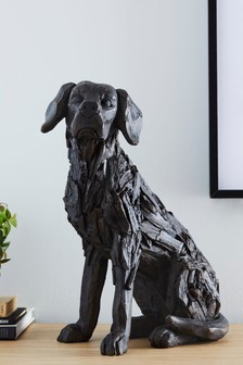 Driftwood Effect Dog Sculpture