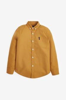 قميص أكسفورد بأكمام طويلة (3-16 سنة)