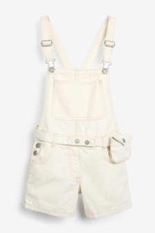 Джинсовый комбинезон-шорты с ремнем с кошельком (3-16 лет)
