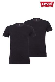 Levi's® Einfarbige T-Shirts mit Rundhalsausschnitt, für Herren, Doppelpack