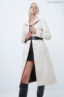 French Connection Afra PU Belted Coat