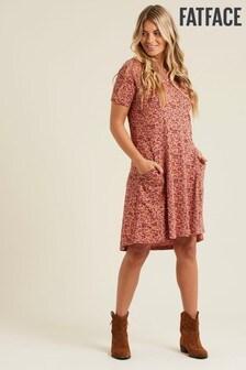 FatFace Pink Simone Brushstroke Dress