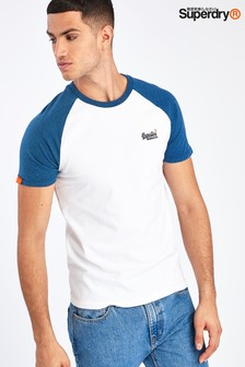 Superdry White Short Sleeve Baseball T-Shirt