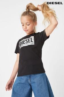 Camiseta infantil con logo metalizado de Diesel®