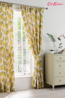 Cath Kidston® Mimosa Floral Lined Pencil Pleat Curtains