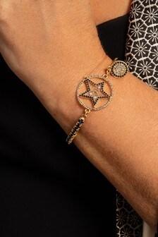 Kate Thornton 'Star & Moon' Midnight Blue/Gold Tone Bracelet