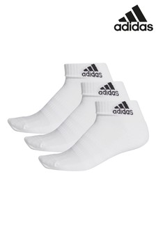 adidas Adult White Ankle Socks Three Pack