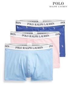 Lot de trois boxers avec logo Polo Ralph Lauren multicolores