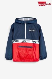 Темно-синяя детская ветровка с короткой молнией Levi's®