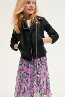 Полиуретановая байкерская куртка (3-16 лет)