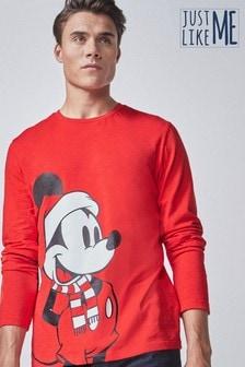 Weihnachtliches Langarm-T-Shirt Mickey Maus™ für Herren (Familienkollektion)