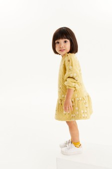 Трикотажное платье с баской (3 мес.-7 лет)