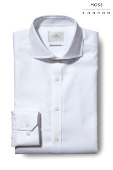 חולצה ללא גיהוץ עם מרקם בגזרת אקסטרה סלים של Moss London דגם Premium