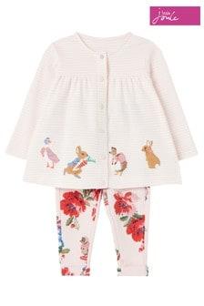Топ и брюки розового цвета с принтом кроликовJoules Jemima