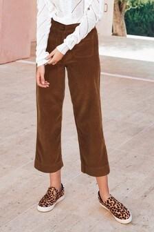 Вельветовые укороченные брюки