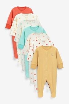 7 Pack Printed Sleepsuits (0mths-2yrs)